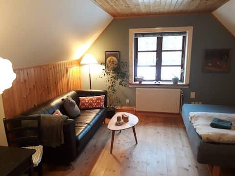 Ekkodalen, hyggeligt værelse i hus.