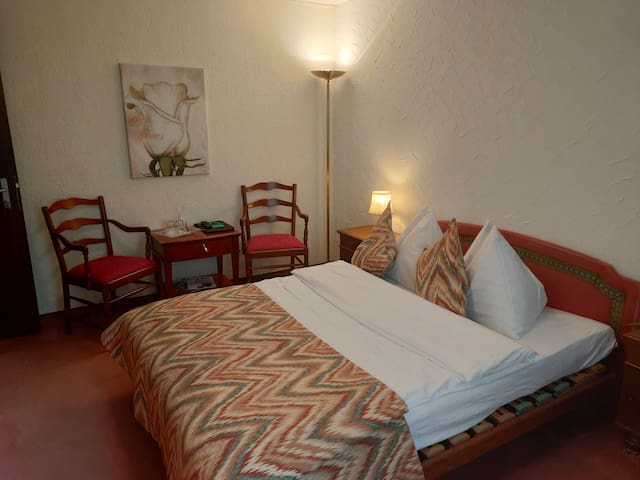 Vintage hotel room #215
