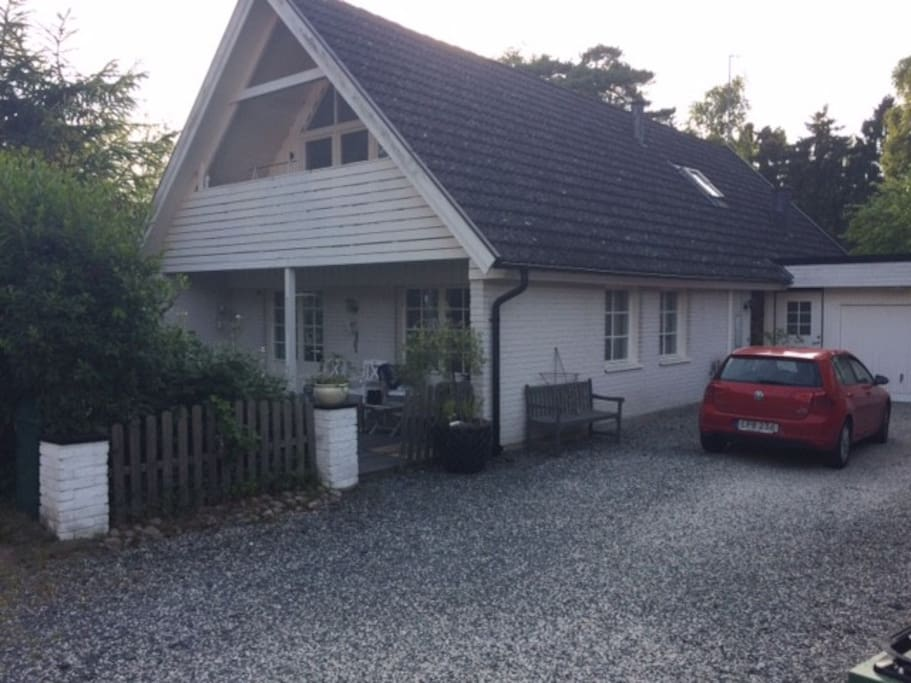 Front of the house with parking for up to 4 cars