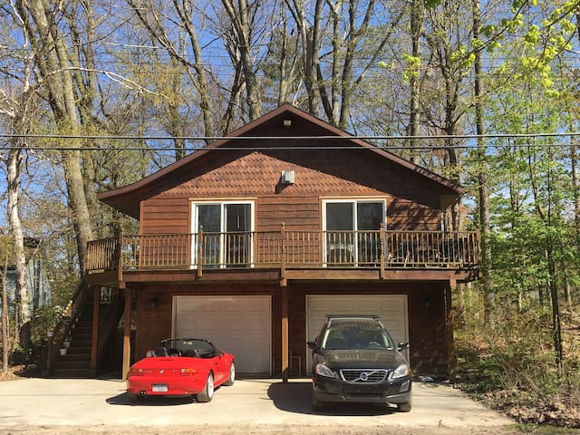 Guest cottage above garage