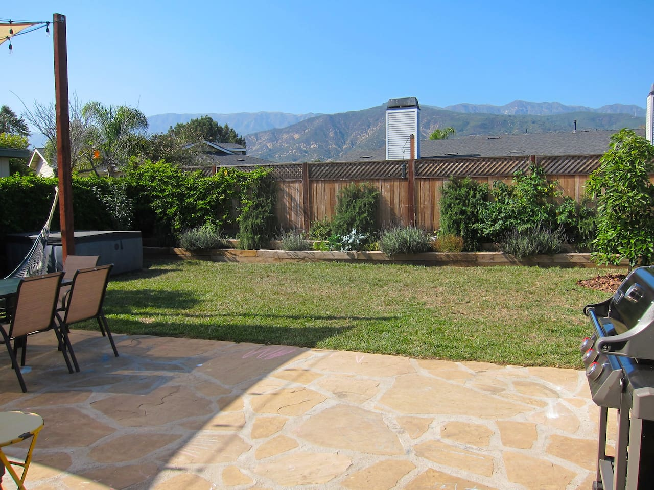 Great Mountain Views from the living room windows and backyard