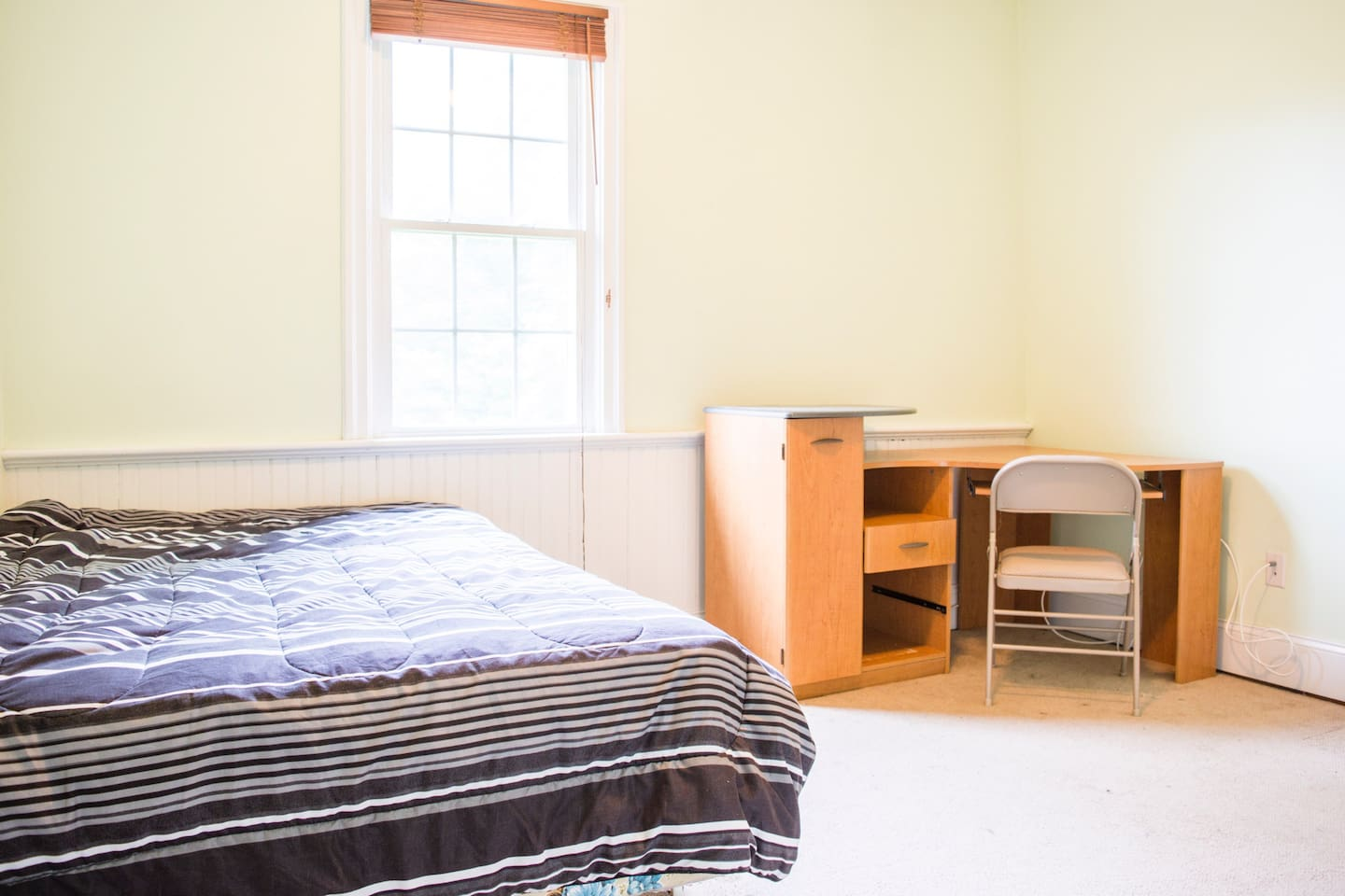 Your bedroom, 132 sq ft, 12x11 (light green, 2nd floor, 3 per bath); full bed, linens available on request
