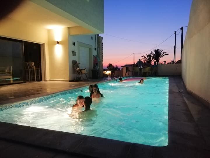 Villa Chergui  + piscine 12m/4m +vues uniques