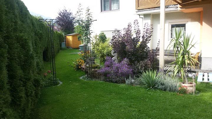 Gartenwohnung mit sonnigen Aussichten