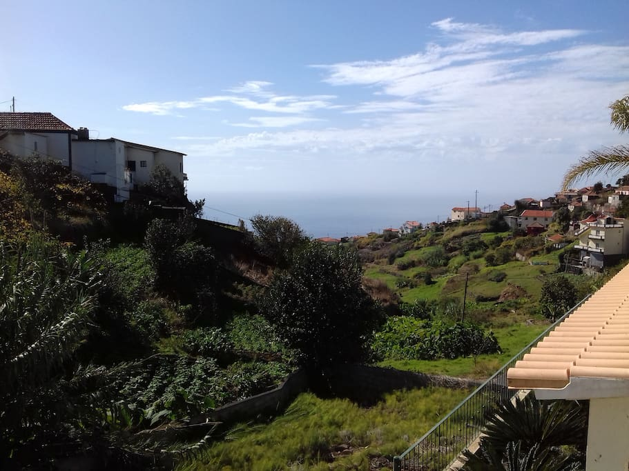 View from the terrace overlooking the pilloresque valley