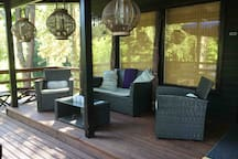 The sitting area in the main terrace!