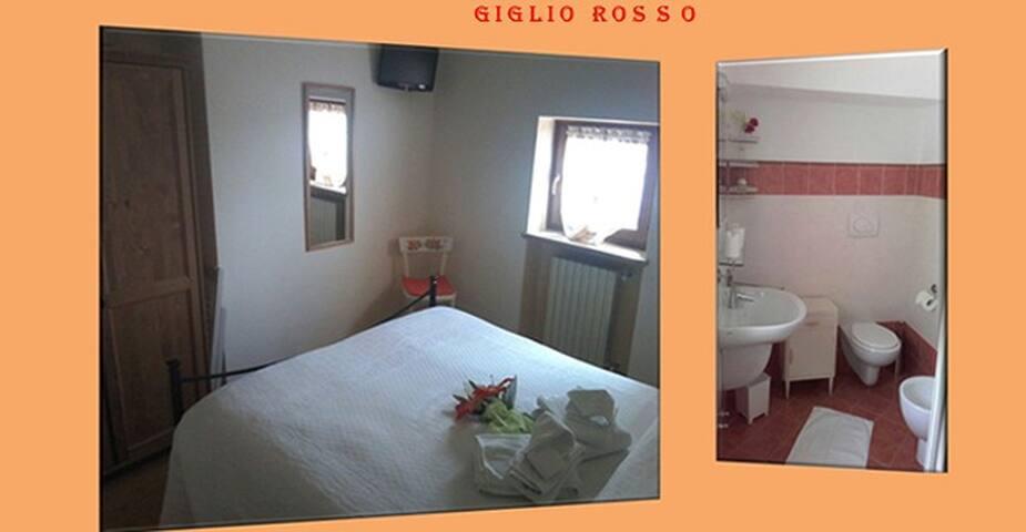 Camera GIGLIO ROSSO in bed and breakfast - Vilmezzano