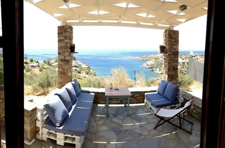 Beautiful sea view House in Koundouros!! - Kéa - Dom