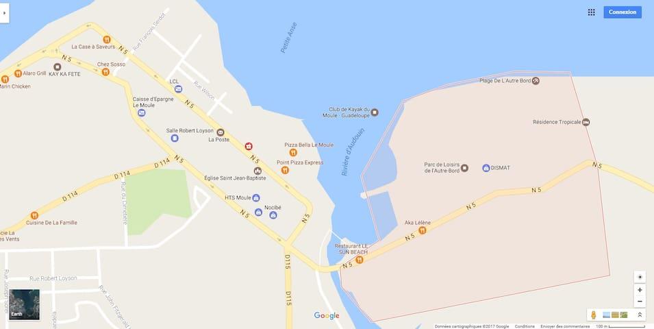 = Location de Studio Le Moule Guadeloupe (971) = - Le Moule - Daire