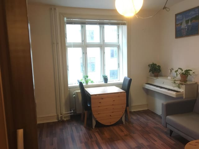 Central & cozy room. Close to airport, fit for two