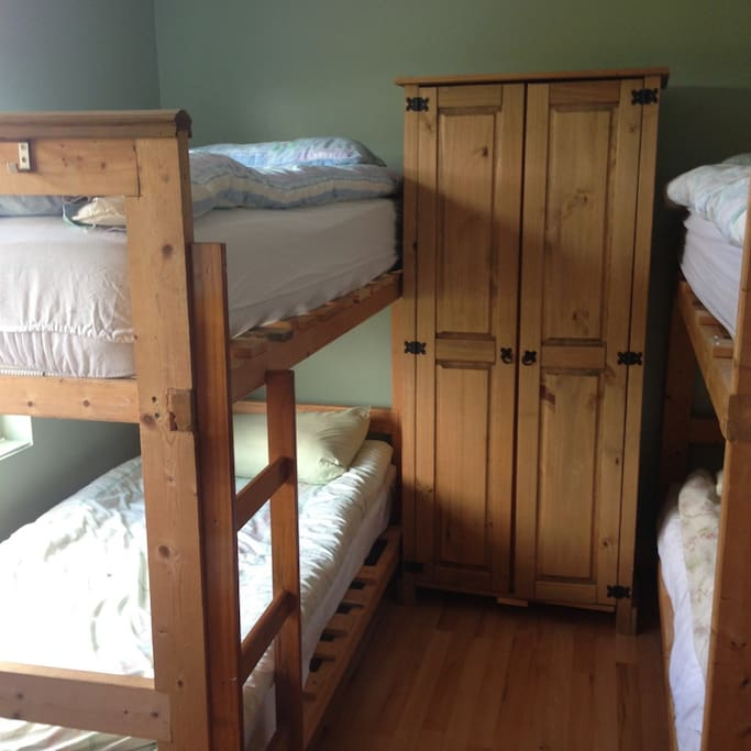 Bedroom 2 with 4 bunk beds