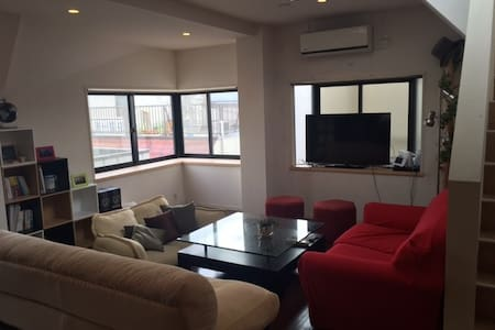 Spacious & Cozy flat with rooftop, near Shibuya - Meguro-ku - Apartment