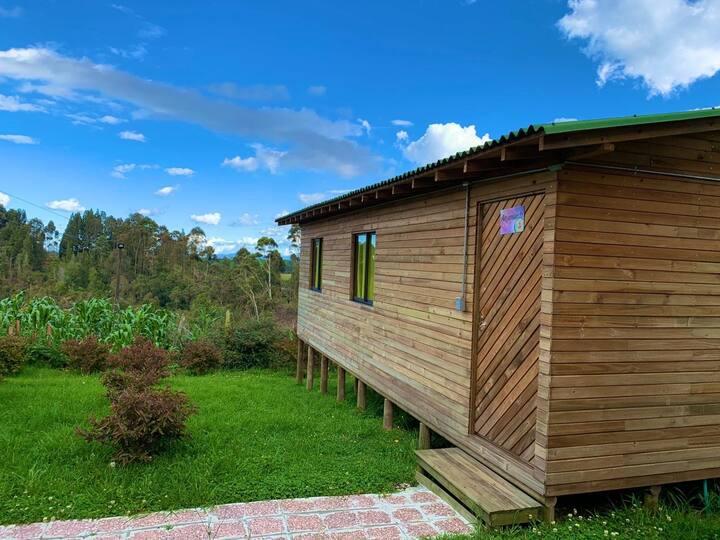 Cabaña en madera en la naturaleza