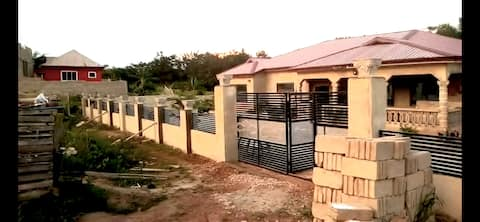 The house is close to the cape coast castle.