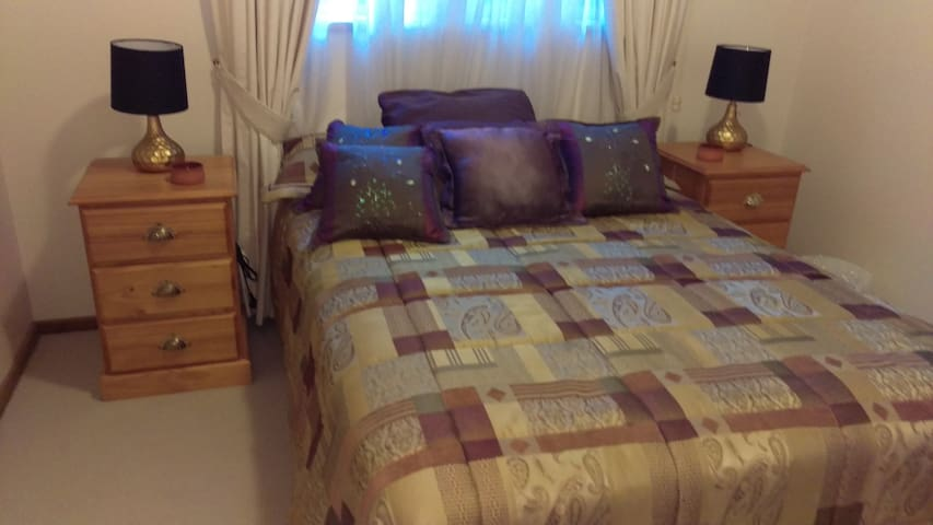Bedroom - double bed, choice of electric blanket on bed or electric rug on top of bed.