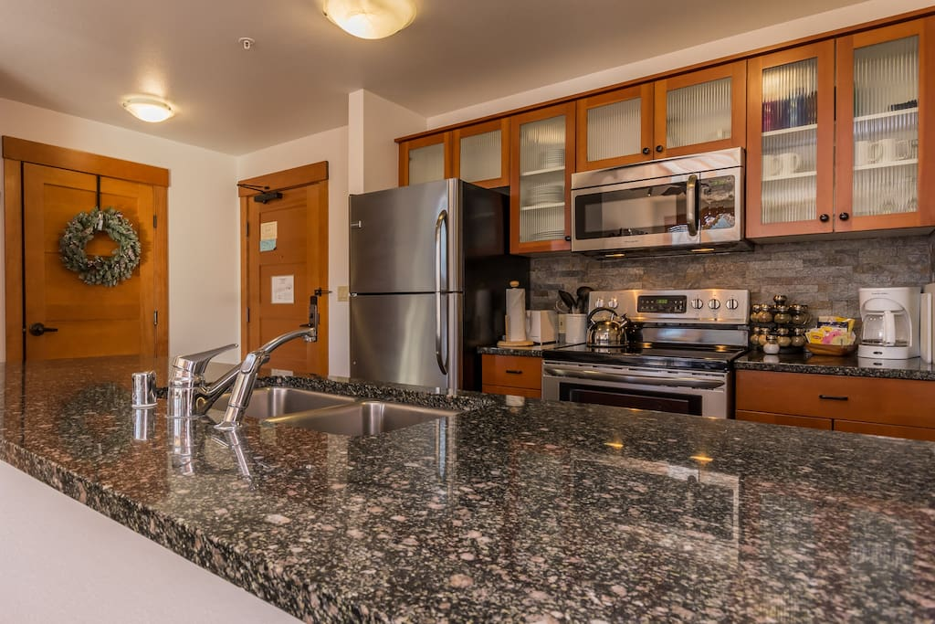 Beautiful remodeled kitchen with stainless steal appliances.