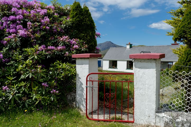 Front gate to the house: we love red!