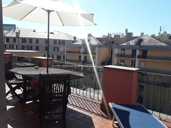 Open space with terrace in the heart of Genova