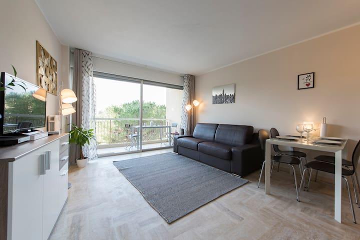 Quality apt., 2 rooms, swim. pool and near center - Mandelieu-la-Napoule - Apartment