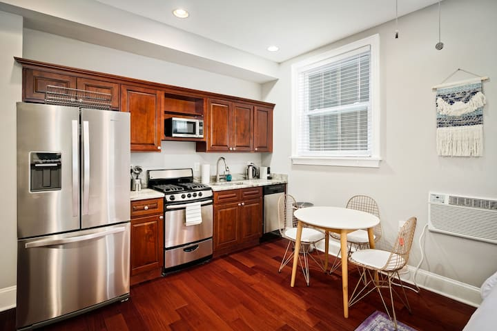 Fully Equipped Kitchen + Dining Area