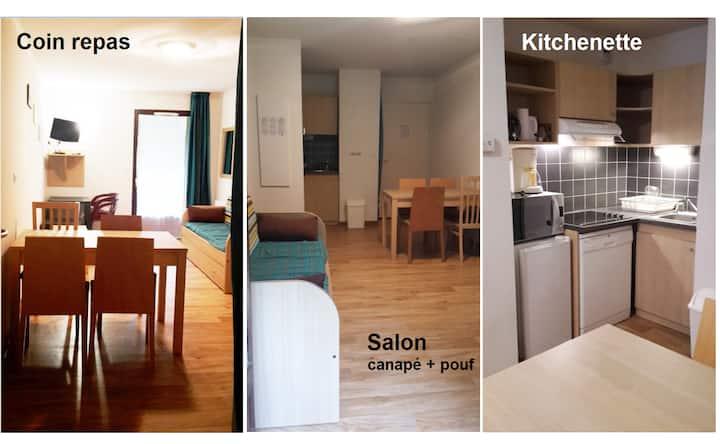 Joli Appartement T2 35 m2 dans parc arboré.