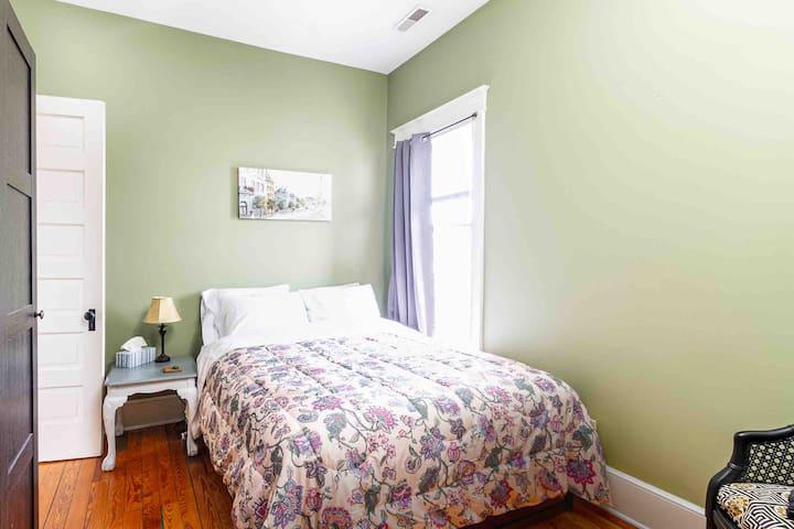 Bedroom 4:  Second floor, 2 queen beds, 1 smart TV.