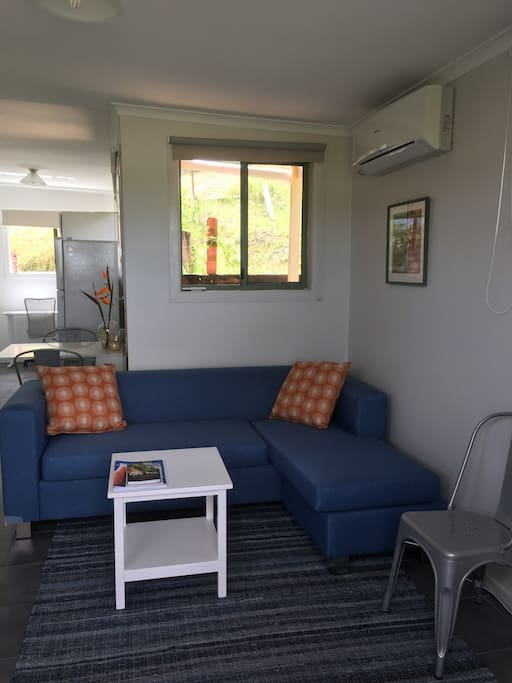 Living area with reverse cycle air con
