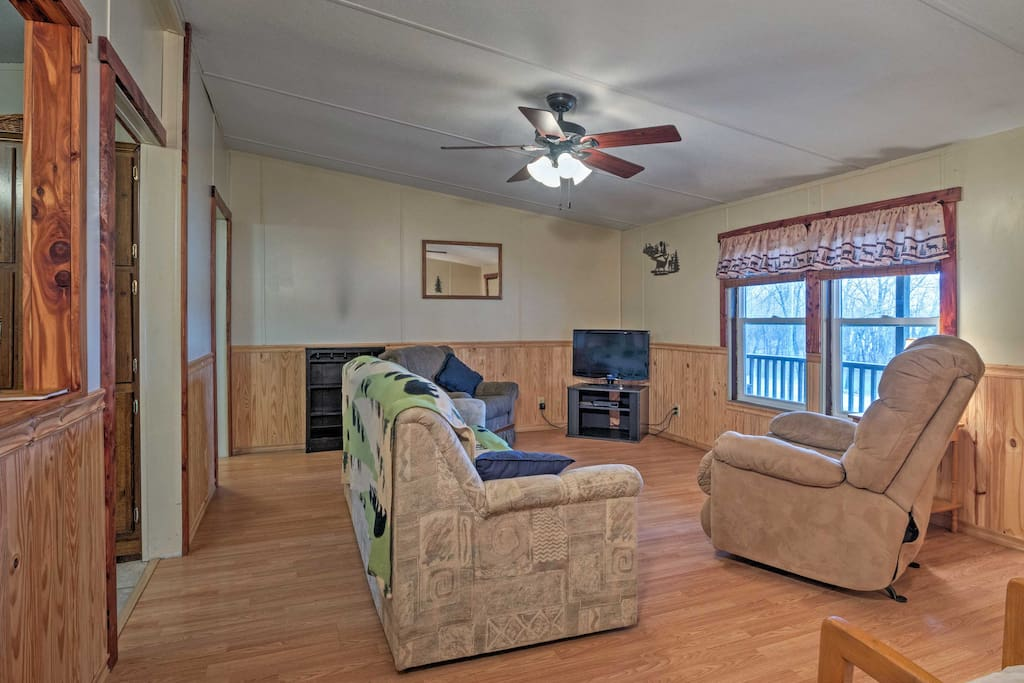 Take a break from the sun and unwind in the spacious living area.