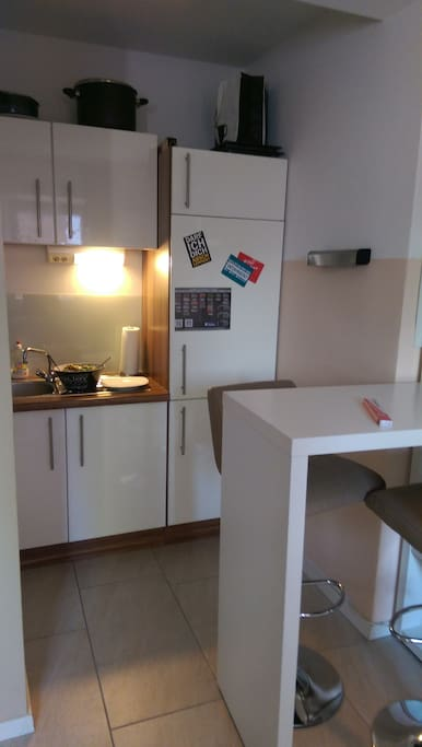 full equipped kitchen with fridge, sink, toaster, water boiler etc.