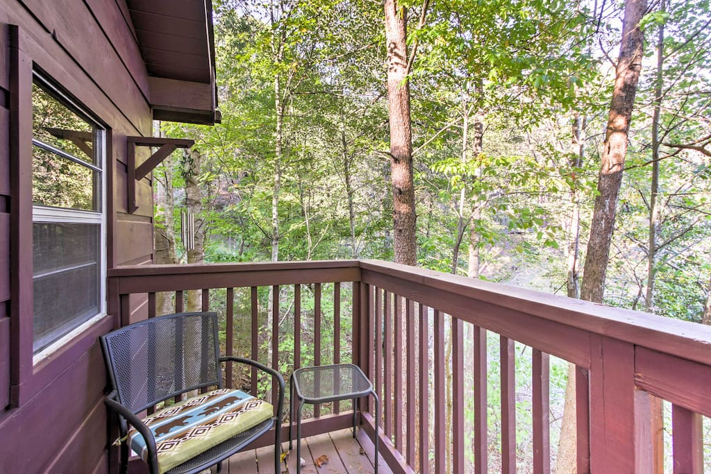 Step out onto your private balcony and breathe the fresh mountain air.