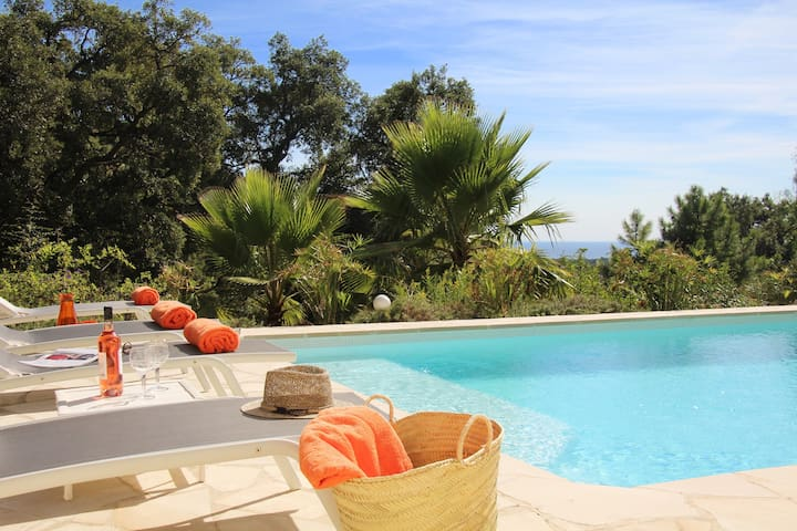 6P Villa with Sea View &Heated Pool near St Tropez