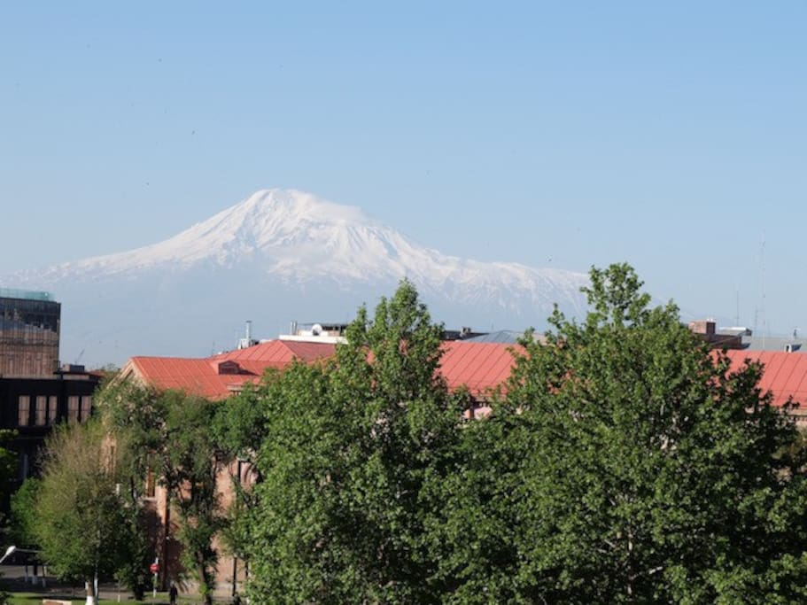 Splendid view on Ararat mountain from the room