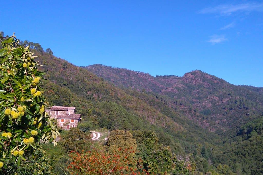 La Peyrarié, une maison d'exception dans le parc National des Cévennes.