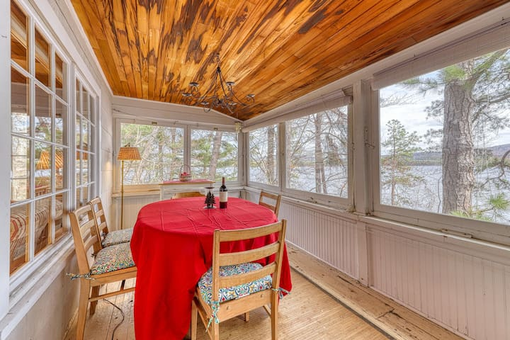 Lakefront home w/ a dock, wood-burning fireplace, & lovely lake views!