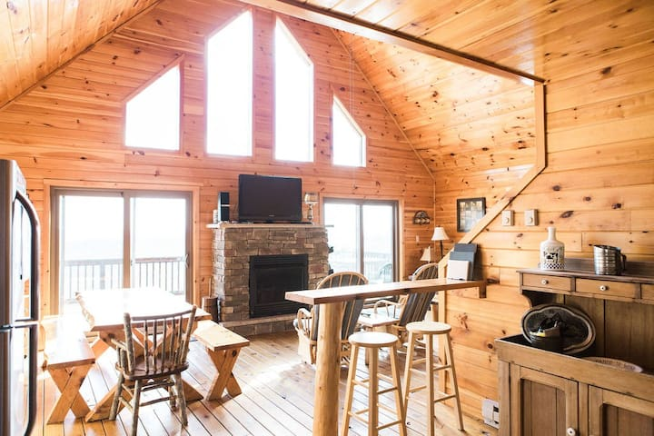Log home with 50 mile view-Poconos!