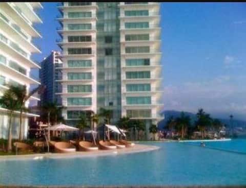 Luxury  beachfront pool, gym spa