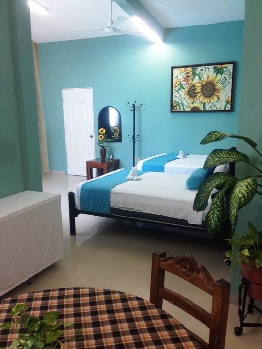 """El loft """"Los Girasoles con dos camas matrimoniales y sofá cama para 5 personas"""