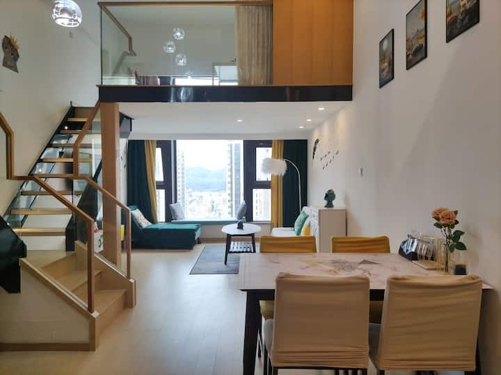 【浪漫一夏】海之梦&宋都蓝郡国际公寓Loft