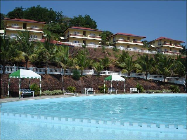 Charming Pool facing 1 BR villa @ Nuvem - Verna - Villa