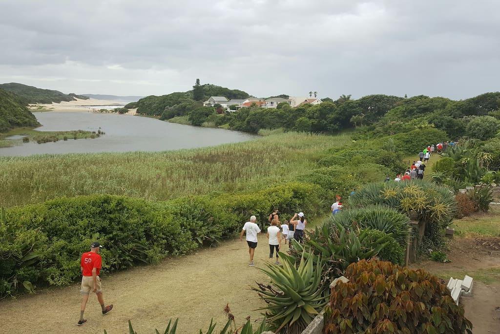 'Pirate's Walk' down the river path