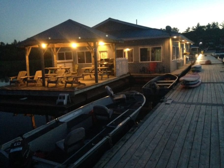 Nighttime at the Floatel