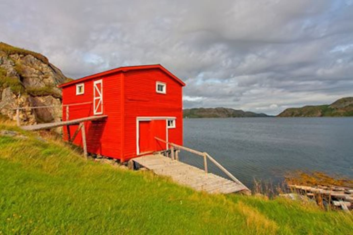 Stay in an authentic outport. Burin Bay is close to the historical town of Burin. It is an ideal location to tour the Burin Peninsula and to take a trip tp Saint Pierre Miquelon. This picture is of our fishing stage which is on the property...