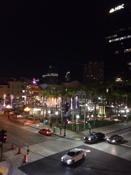 View of Horton Plaza Park from the Juliet balcony