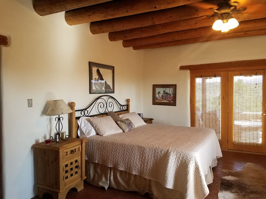 Master Suite has a King Bed, electric and woodburning fireplaces.