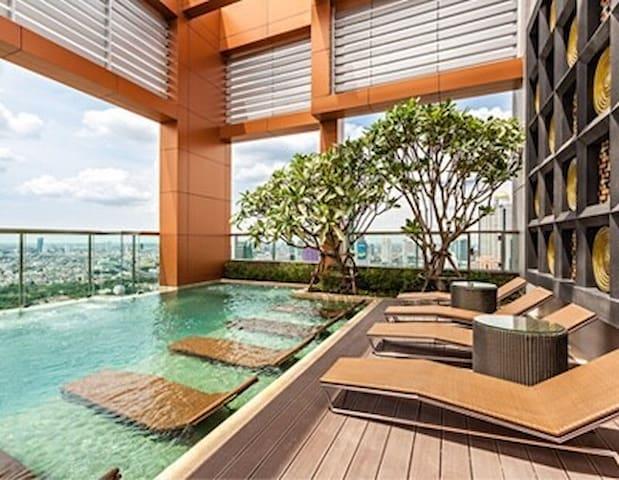 Luxury2BDs 2Mins BTS ChongNonSi @Heart of Bangkok - Bangkok - Apartment