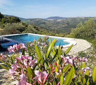 Gorgeous rural apartment with pool & sunset views!