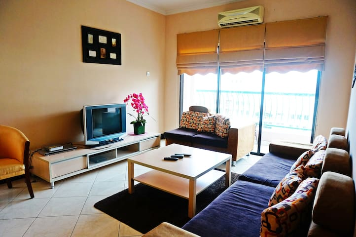 Living Room with 6-Seater Sofa