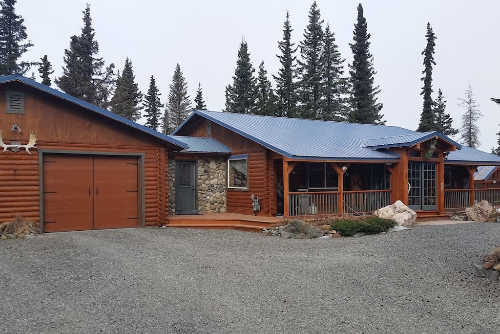 Main house with attached garage