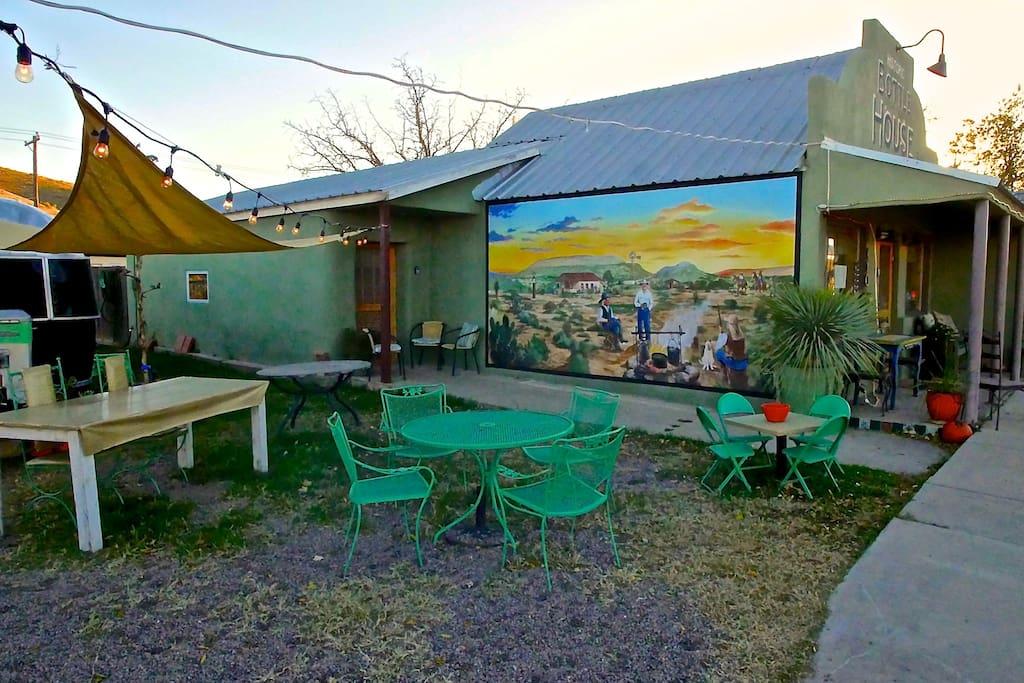 mural on side of Bottle House