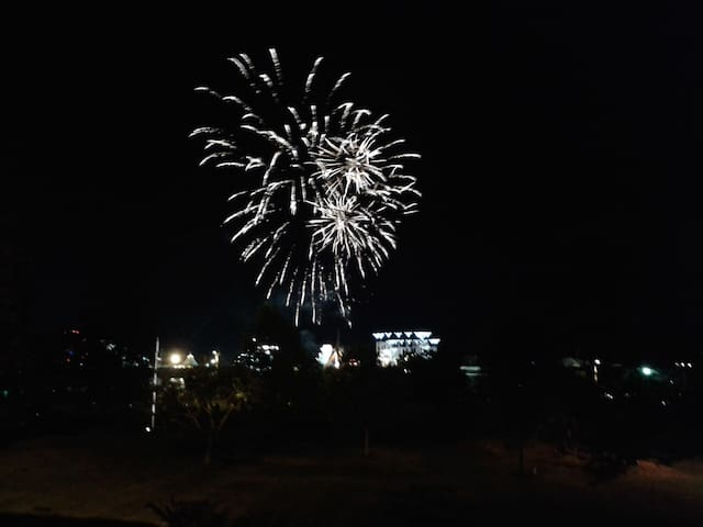 Thursday fireworks from the deck.